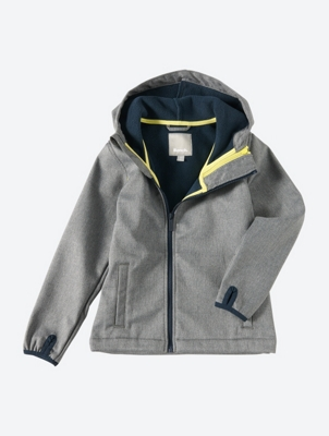 Water Repellant Hooded Jacket with Fleece Lining