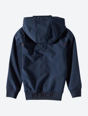 Unifarbene Softshell-Jacke mit Kapuze
