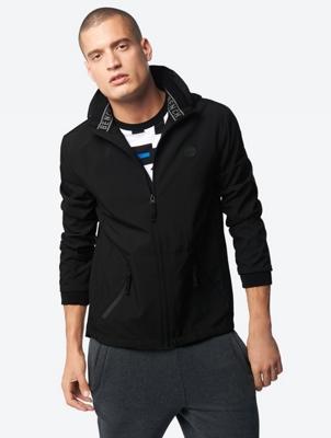 Wasserabweisende Softshell-Jacke mit gummiertem Bench-Badge