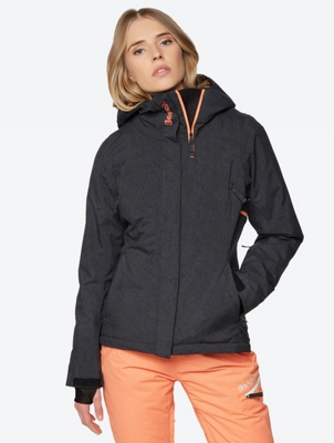 Water Repellent Jacket with Patterned Lining