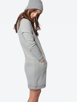 Sweat Dress with Slit Pockets