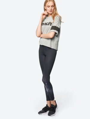 Patterned Leggings with Wide Elasticated Waistband