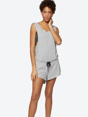 Short Jumpsuit with Waistband