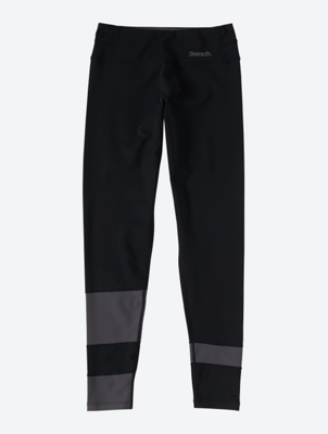 Two-tone Leggings with Reflective Logo