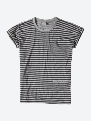 Striped T-Shirt with Overcut Shoulders