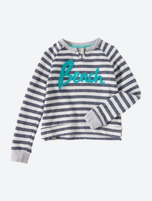 Striped Sweatshirt with Large Bench Logo