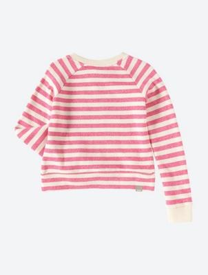 Gestreiftes Sweatshirt mit großem Bench-Logo