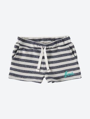 Gestreifte Shorts mit gesticktem Logo