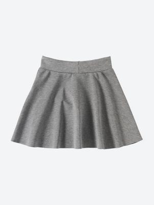 Jersey Skater Skirt with Drawstring Waistband Detail