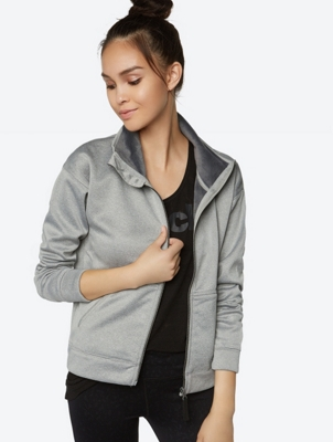 Sportive Sweatjacke mit softem Fleece-Futter