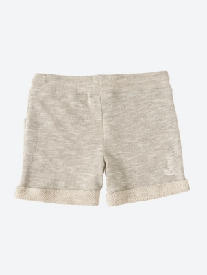 Jersey Sweat Shorts with Mottled Yarn Texture