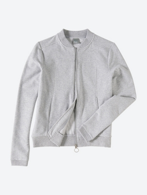Soft Sweat Jacket with Velvety Print