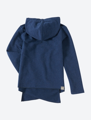 Hooded Sweat Jacket with Wrapped Effect