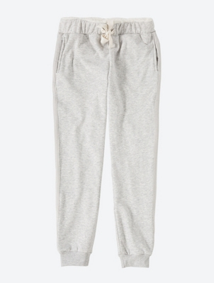 Sweatpants with soft lined waistband
