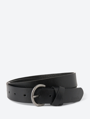 Leather Belt with Round Pin Buckle