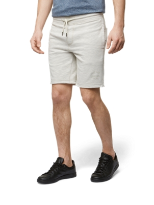Shorts in Melange Look