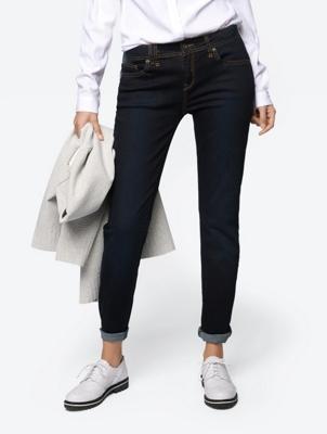 Slim Fit-Jeans mit Bleaching-Effekt