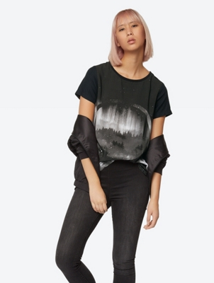Soft T-Shirt Oversized with Front Print