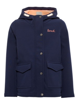 Softshell Parka with Two Flap Pockets on the Front