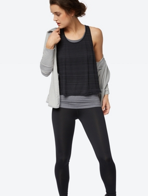 Sportives Top im Layering-Look