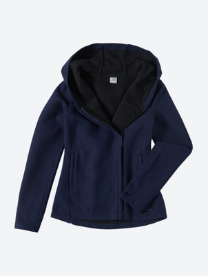 Fine Knit Hoodie with Textured Pattern