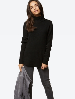 Knit Jumper with Turtleneck Collar