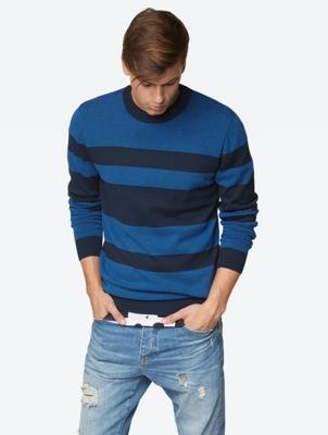 Structured Stripe C Neck