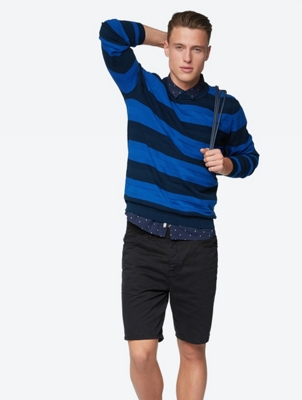Textured Jumper Jovial in Block Stripe Design