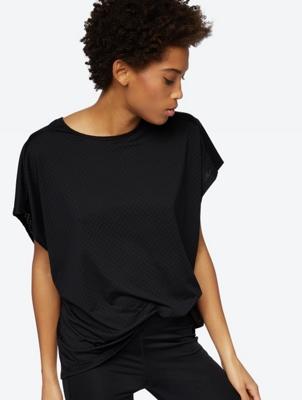 Textured T-Shirt in an Oversized Cut