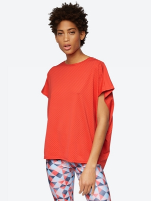 Textured T-Shirt in an Oversized Cut