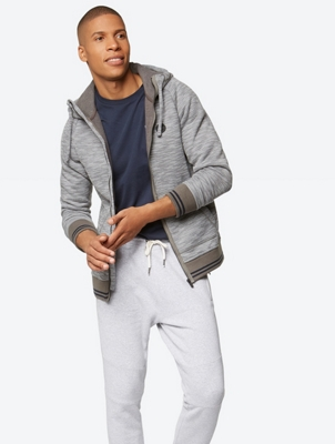 Sweat Jacket in Melange Look