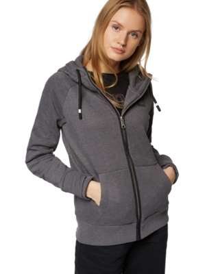 Sweat Jacket with Drawstring Hood