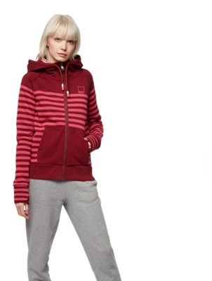 HER. ZIP THROUGH HOODY PLACED STRIP