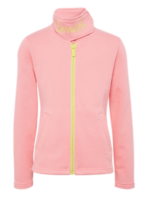Sweat Jacket with Hook-and-Loop Fastener on Standing Collar