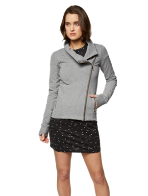 Sweat Jacket with Asymmetrical Zip