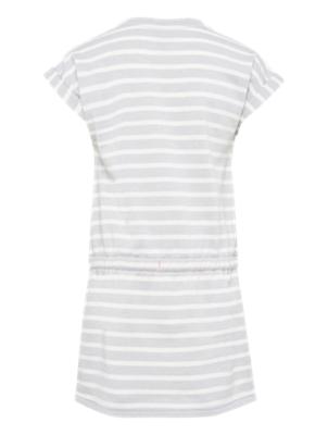 Sweat Dress with Striped Pattern