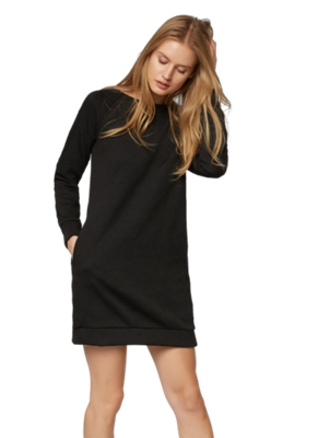 Sweat Dress with Prominent Texture