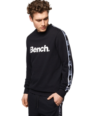 Sweatshirt with Bench Print on the Front