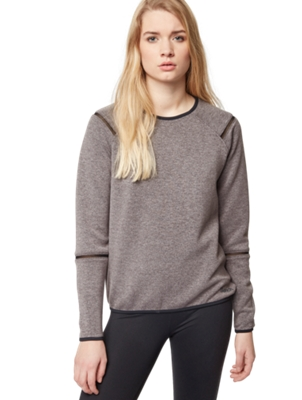 Sweatshirt with Mesh Inserts on the Sleeves