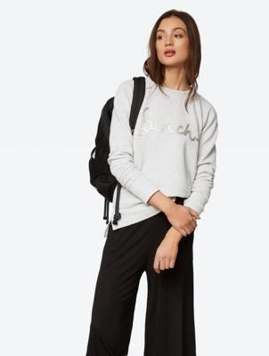 Sweatshirt with Sequin Logo