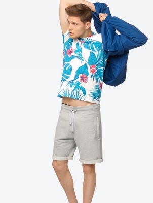 T-Shirt Honolua with Tropical Print