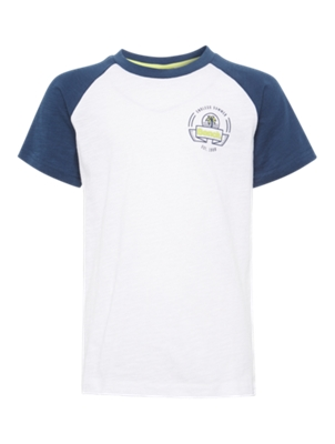 T-Shirt with Surfer Motif on the Back