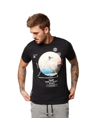 T-Shirt with Surfer Print on the Front