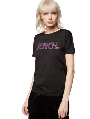 T-Shirt mit bunten Lurex-Fäden