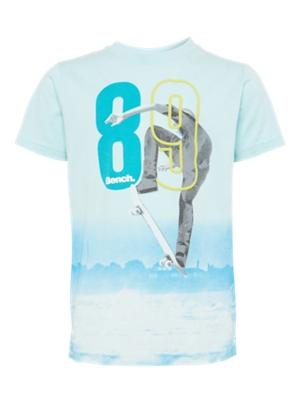 T-Shirt mit coolem Skater-Print vorne