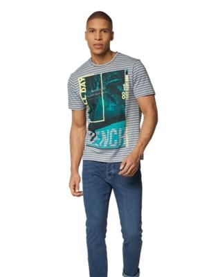 T-Shirt mit großem Print vorne
