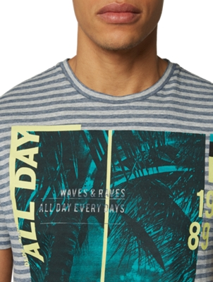 T-Shirt with Large Print on the Front