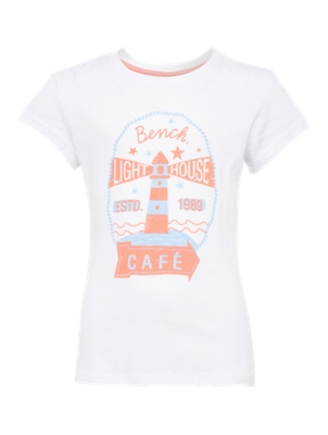 T-Shirt with Maritime Print on the Front