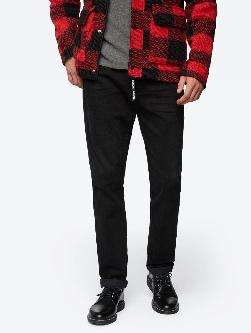 Bench Schwarz Mens Jeans Größe 33w 34l
