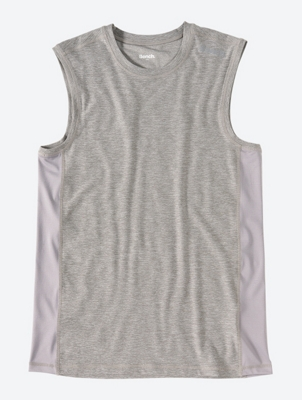 Melange Vest with Perforated Panels